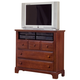 All-American Hamilton/Franklin 3-Drawer Media Shutterset in Cherry