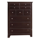 All-American Hamilton/Franklin 5-Drawer Chest in Merlot