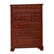 All-American Hamilton/Franklin 5-Drawer Chest in Cherry