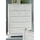 All-American Hamilton/Franklin 5-Drawer Chest in Snow White