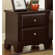 Vaughan-Basset Hamilton/Franklin 2-Drawer Night Stand in Merlot