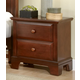 All-American Hamilton/Franklin 2-Drawer Night Stand in Cherry