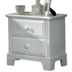 All-American Hamilton/Franklin Small 2-Drawer Night Stand in Snow White