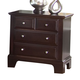 All-American Hamilton/Franklin 3-Drawer Night Stand in Merlot