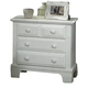 All-American Hamilton/Franklin 2-Drawer Night Stand in Snow White