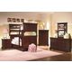 New Classic Versaille Youth Bunk Bedroom Set in Bordeaux Finish