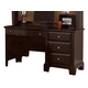All-American Jefferson/Madison Single Pedestal Computer Desk in Merlot