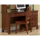 All-American Hamilton/Franklin Single Pedestal Computer Desk in Cherry