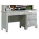 All-American Hamilton/Franklin Single Pedestal Computer Desk in Snow White