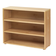 Maxtrix 3 Shelf Bookcase without Crown and Base in Natural 4720-001