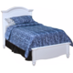 New Classic Victoria Youth Twin Panel Bed in White Finish 05-621-510