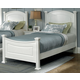 All-American Hamilton/Franklin Full Panel Bed in Snow White