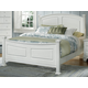 All-American Hamilton/Franklin Queen Panel Bed in Snow White