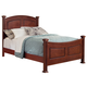 All-American Hamilton/Franklin California King Panel Bed in Cherry