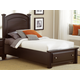 All-American Hamilton/Franklin Twin Panel Storage Bed in Merlot