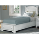 All-American Hamilton/Franklin Twin Panel Storage Bed in Snow White