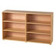 Maxtrix 6 Shelf Bookcase without Crown and Base in Natural 4760-001