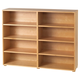Maxtrix 8 Shelf Bookcase without Crown and Base in Natural 4780-001