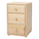 Maxtrix 3.5 Drawer Nightstand without Crown and Base in Natural 4235-001