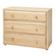 Maxtrix 3 Drawer Dresser without Crown and Base in Natural 4230-001