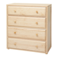 Maxtrix 4 Drawer Chest without Crown and Base in Natural 4240-001