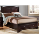 All-American Hamilton/Franklin Eastern King Panel Storage Bed in Merlot