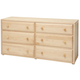 Maxtrix 6 Drawer Dresser without Crown and Base in Natural 4260-001