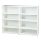 Maxtrix 8 Shelf Bookcase without Crown and Base in White 4780-002