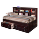 New Classic Victoria Youth Twin Lounge Bed in Espresso Finish 05-623-512
