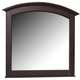 All-American Hamilton/Franklin Landscape Mirror in Merlot
