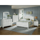 All-American Hamilton/Franklin Panel Bedroom Set C in Snow White