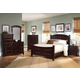 All-American Jefferson/Madison Panel Bedroom Set D in Merlot