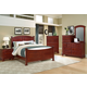 All-American Hamilton/Franklin Panel Bedroom Set D in Cherry