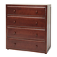 Maxtrix 4 Drawer Chest without Crown and Base in Chestnut 4240-003