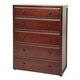 Maxtrix 5 Drawer Chest without Crown and Base in Chestnut 4250-003