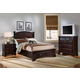All-American Hamilton/Franklin Panel Storage Bedroom Set in Merlot