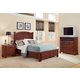 All-American Jefferson/Madison Panel Storage Bedroom Set in Cherry