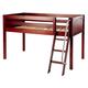 Maxtrix Bare Bone Low Loft (Low/Low) Panel Bedroom Set in Chestnut (Angle Ladder)