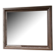 All-American Reflections Landscape Mirror in Dark Cherry