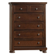 All-American Reflections 5-Drawer Chest in Dark Cherry