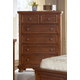 All-American Muse 5-Drawer Chest in Medium Cherry