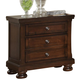 All-American Reflections 2-Drawer Night Stand in Dark Cherry