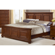 All-American Reflections Queen Mansion Bed in Medium Cherry