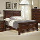 All-American Muse California King Mansion Bed in Dark Cherry