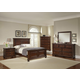 All-American Reflections Mansion Bedroom Set in Dark Cherry