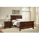 All-American Muse Sleigh Bedroom Set in Dark Cherry