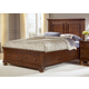 All-American Muse Queen Mansion Storage Bed in Medium Cherry