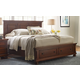 All-American Reflections Eastern King Mansion Storage Bed in Dark Cherry