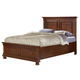 All-American Reflections Eastern King Mansion Storage Bed in Medium Cherry