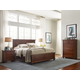 All-American Reflections Mansion Storage Bedroom Set in Dark Cherry